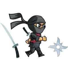 Running Ninja Game Sprite vector image