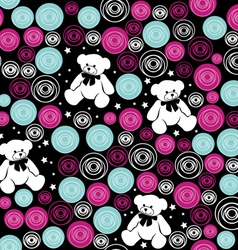 Seamless pattern Teddy bears vector image vector image