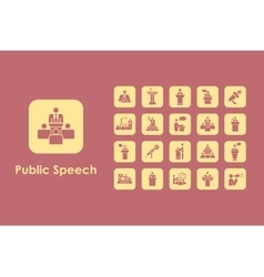 Set of public speech simple icons vector image