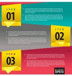 Abstract banners with number vector image vector image