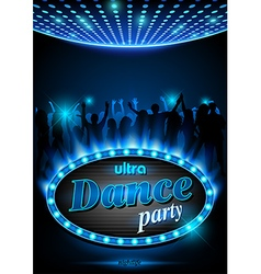 Neon Sign Dance Party vector image vector image