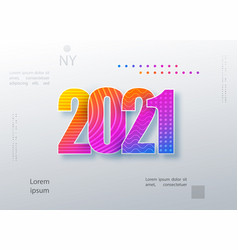 2021 happy new year colored logo text design vector image