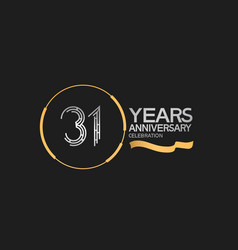 31 years anniversary logotype style with silver vector