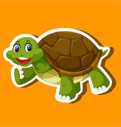 A simple turtle sticker vector