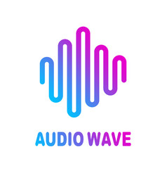 Abstract colorful wave lines flowing isolated vector