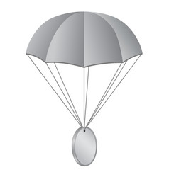 Airdrop concept parachute with coin isolated vector