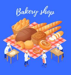 bakery shop isometric vector image