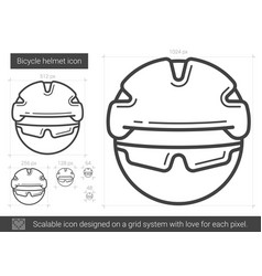 Bicycle helmet line icon vector
