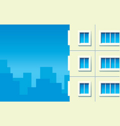 building against city vector image