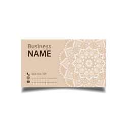business card flower vintage decorative element ve vector image