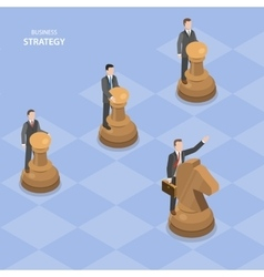 Business stratagy isometric flat concept vector image