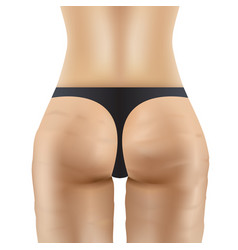 cellulite women ass in black panties vector image