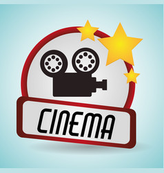 cinema film camera movie projector vector image