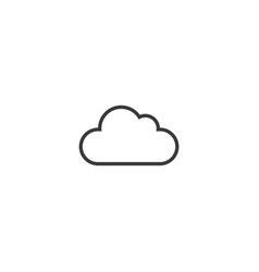 Cloud icon line style vector