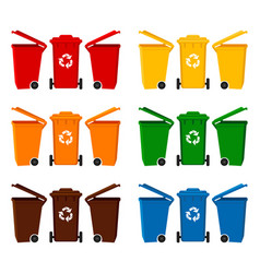 colorful cartoon dumpster collection vector image