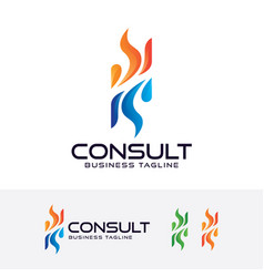 consulting logo design vector image