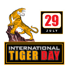 day tiger 0017 vector image