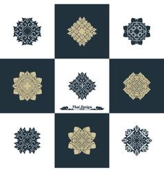 Design Luxury Template Set Swash Elements Art vector