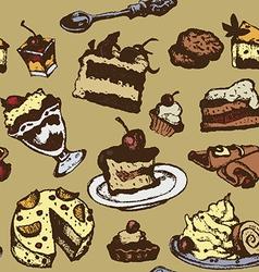 Dessert background vector image