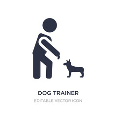 Dog trainer icon on white background simple vector
