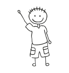Drawing happy boy isolated icon design vector image