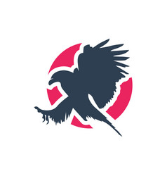 eagle logo design vector image