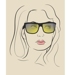 face in glasses vector image