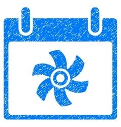 Fan Calendar Day Grainy Texture Icon vector image