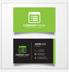 File list icon business card template vector