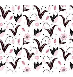 Flowers seamless pattern floral plant patterns vector