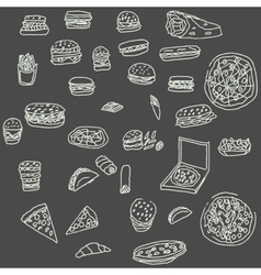 fust food hand drawn bread vector image