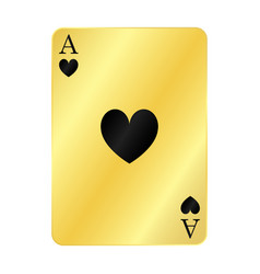 Gold ace hearts vector