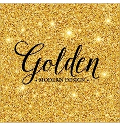 Gold glitter texture for background vector image