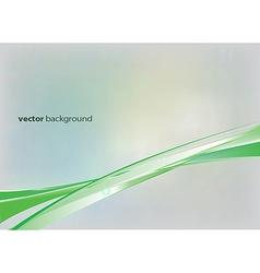 Green lines vector image vector image