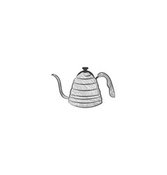 hand drawn tea pot logo designs inspiration vector image
