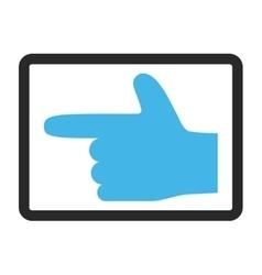 Hand Pointer Left Framed Icon vector