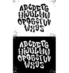 handwritten graffiti font alphabet alphabet on a vector image