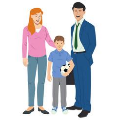 Happy family set vector
