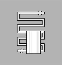 heated towel rail vector image