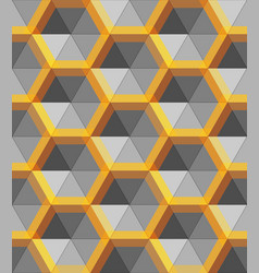 hexagon silver and gold abstract form vector image