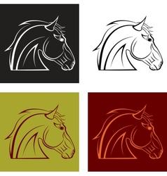 Horses head vector