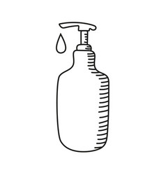 icon hand sanitizer vector image