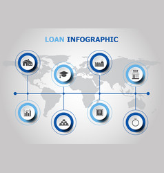 infographic design with loan icons vector image