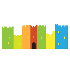 Isolated castle toy vector
