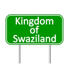 Kingdom of Swaziland road sign vector