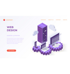 landing page for web design and development vector image
