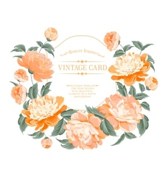 Luxurious vintage frame vector
