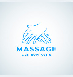 Massage and chiropractic sign vector
