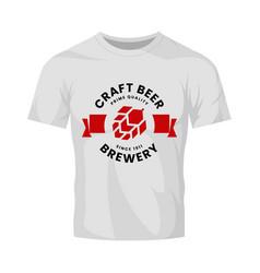 modern round craft beer drink logo sign for bar vector image
