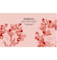 monochrome pink astromelia flower bloom realistic vector image